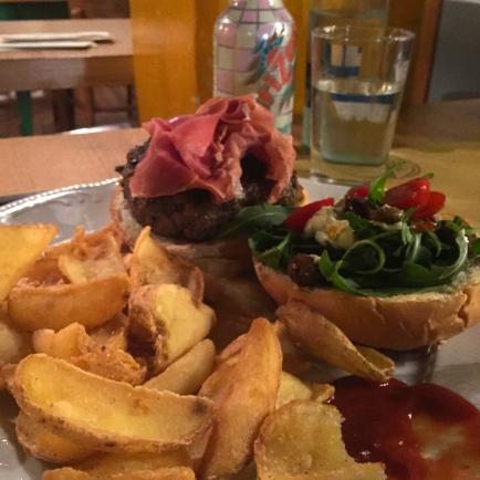 Capresa Burger with Prosciutto San Daniele
