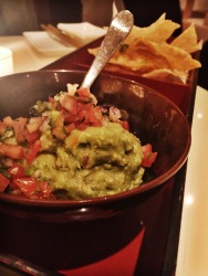 Wasabi Guacamole with Wonton Chips